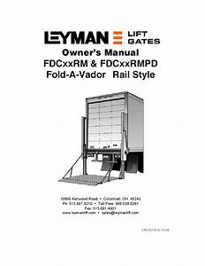 Leyman Fdcxxrm Series Liftgate By The Liftgate Parts Co