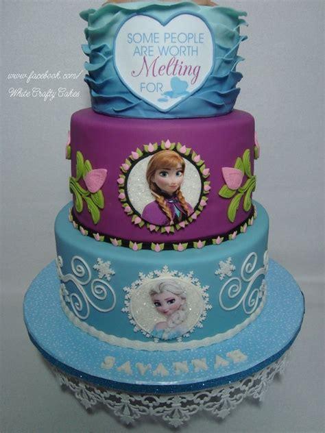 frozen cake  anna elsa  olaf  summer cake