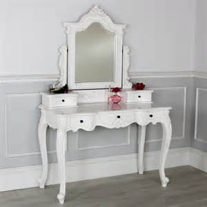 Mirrored Bedroom Vanity by French Chateau White Dressing Table With Mirror