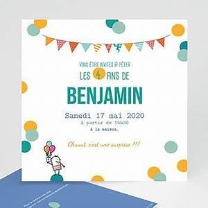 Texte Anniversaire 1 An Garçon : invitation anniversaire enfant carte personnalis e ~ Melissatoandfro.com Idées de Décoration