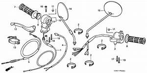 Handle Lever  Switch   Cable For 1988 Honda St50 St50  Dax