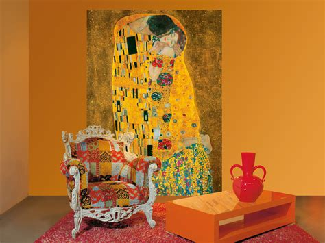gustav klimt  kiss   wall mural buy