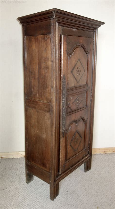 Narrow Armoire Wardrobe by Narrow Oak Chestnut Armoire Wardrobe Antiques Atlas