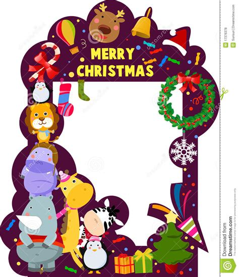 merry christmas frame stock vector illustration of celebration 17376378