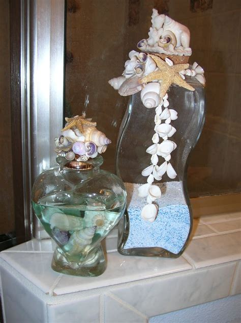 Seashell Bathroom Ideas by 108 Best Sea Shells Sand In Vases Images On