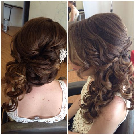 Formal Hairstyles On The Side by Bridal Hair Wedding Hair Side Swept Updo Side Ponytail