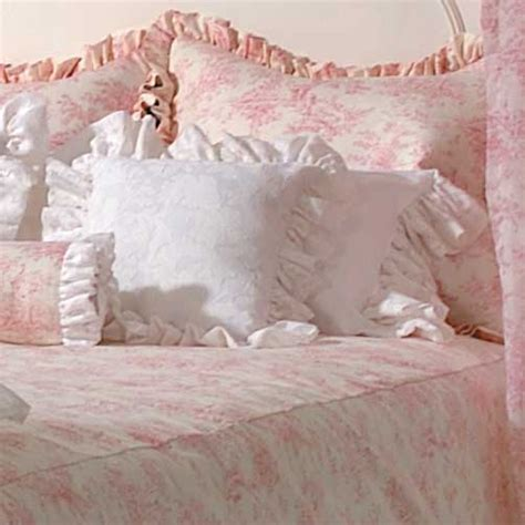 pink toile bedding isabella pink toile soft style full queen bolster