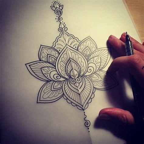beautiful stencil tattoo  mandala flower