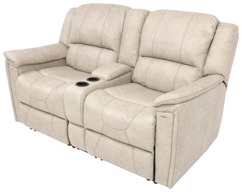 rv recliner loveseat payne rv dual reclining sofa w center console