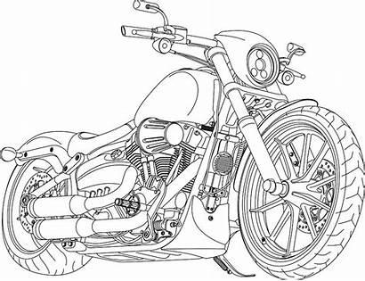 Harley Breakout Davidson Svg Vectorified