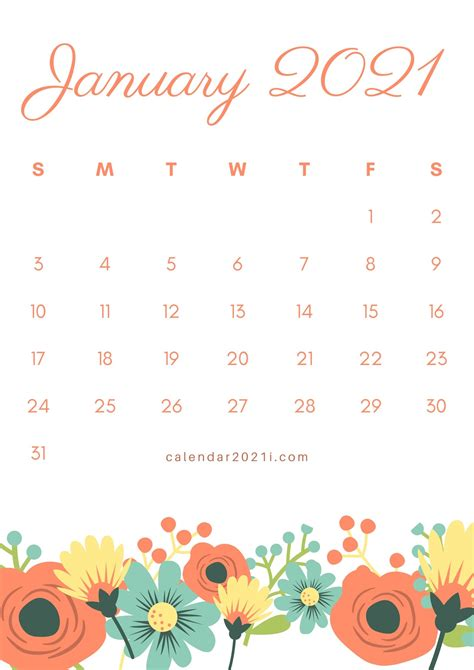 floral calendar printable monthly templates