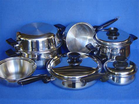 cookware permanent lifetime stainless steel core multi pot t304 mc2000 pans 17pc