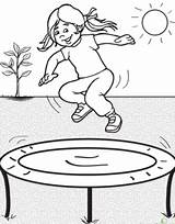 Trampoline Trampolines Coloring Jumping Jump Coloriage Injuries Bungee Looking Template Colorier Marketing Reduce Using Manager Savoir Plus Meet Lapin sketch template