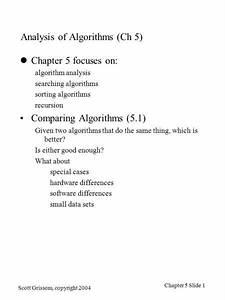 Scott, Grissom, Copyright, 2004, Chapter, 5, Slide, 1, Analysis, Of, Algorithms, Ch, 5, Chapter, 5, Focuses