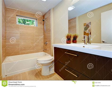 New Bathroom Sink by Modern New Bathroom Design With Sink And White Tub Stock