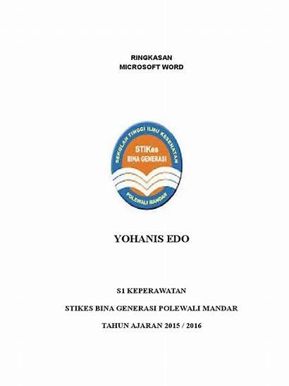 Ringkasan Materi Word Edo Doc