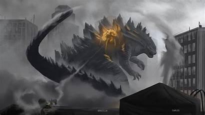 Godzilla Wallpapers Fire Maya Carlos Navarro Alan