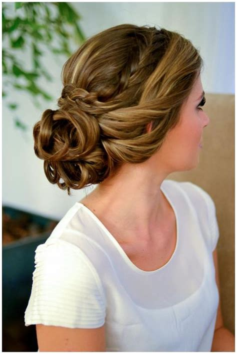 easy braided bun up do hairstyles
