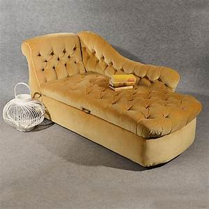 antique chaise longue day bed sofa couch settee ottoman With victorian sofa bed