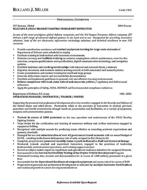 process manager resume exle