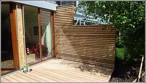 sichtschutz terrasse holz grau terrasse house und With französischer balkon mit garten wandverkleidung