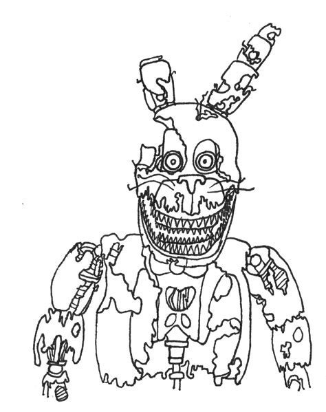 Five Nights at Freddy's Coloring Pages - GetColoringPages.com | 599x474