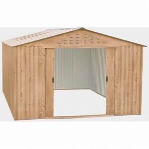 abri de jardin en metal imitation bois 1162m2 duramax With abri de jardin metal imitation bois