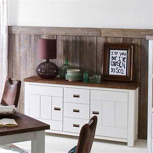 Sideboard Braun Weiß : sideboard havana in akazie massiv wei braun 170cm breit ~ Markanthonyermac.com Haus und Dekorationen