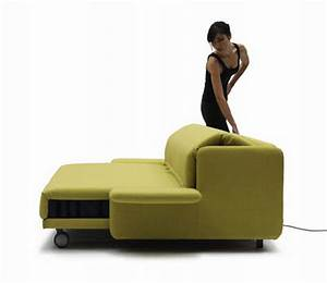 Wow sofa becomes a practical bed with just the push of a for Sofa becomes bed