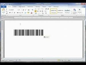 how to create a barcode in word for free youtube With create barcode in word