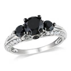 white gold black white engagement ring engagement rings review - White Gold Black Engagement Ring