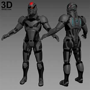 mass effect 3 n7 armor template - 3d printable model n7 commander shepard armor mass effect