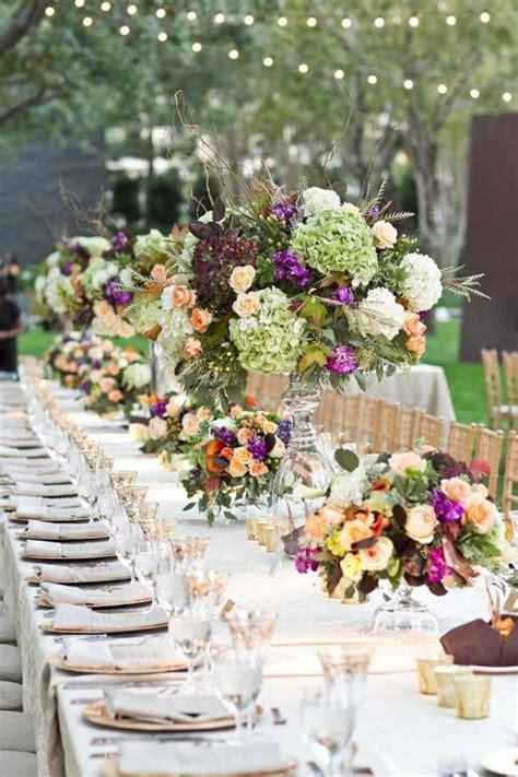 decoration florale pour table idees mariages en automne