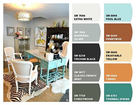 Schip Family Office by An Easy Way To Create A Color Palette For A Room Joyful
