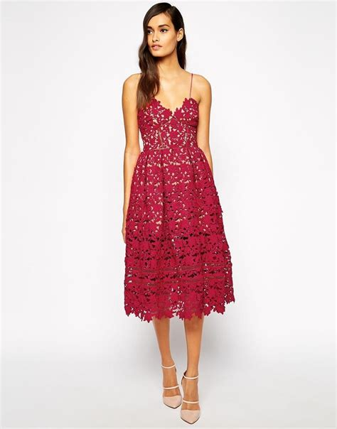 portrait azaelea midi dress  textured lace