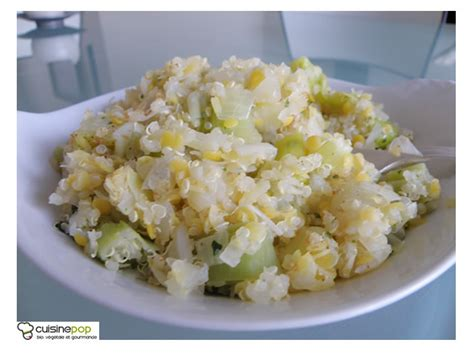 poireaux cuisiner quinoa blond et lentilles corail aux poireaux autres