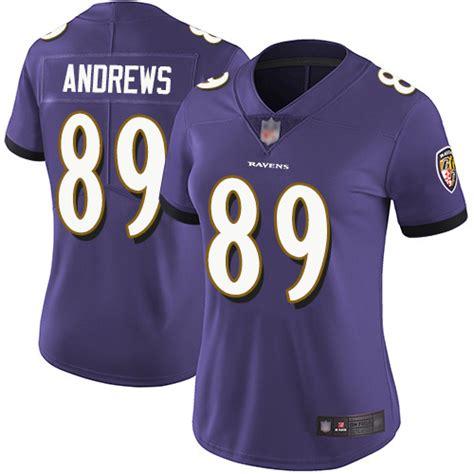 Women\'s Baltimore Ravens #89 Mark Andrews Purple Team ...