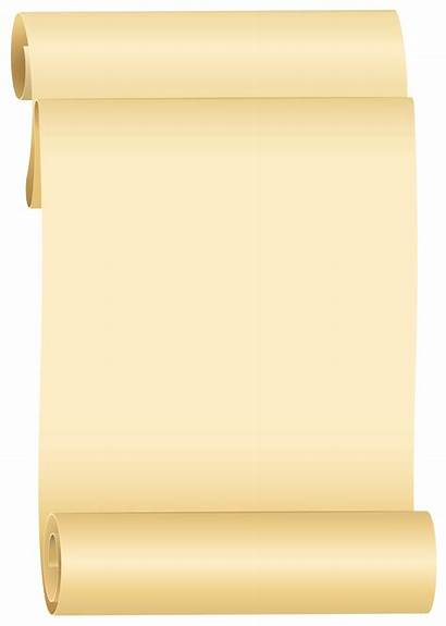 Scroll Clip Scrolls Clipart Transparent Right Banner