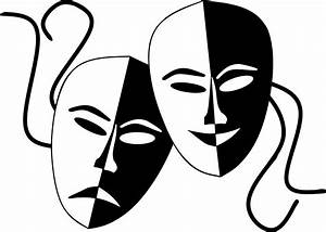 Tragedy And Comedy Theater Masks Icons PNG - Free PNG and ...