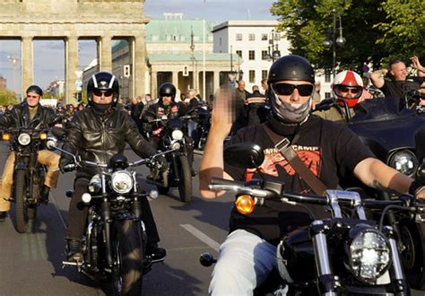 Hells Angels Ride Through Berlin In Protest At German