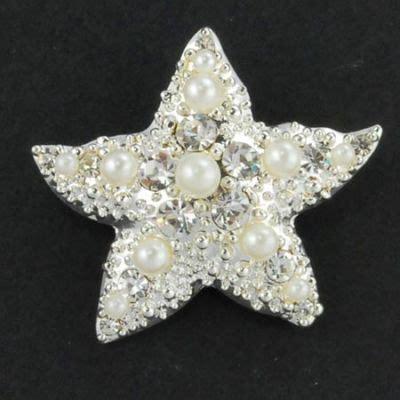 Star Fish Brooch Brooch Fabric flower pins Bridesmaid