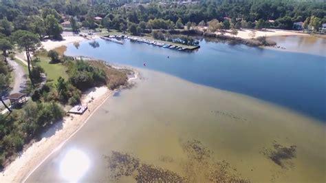 survol du lac de sanguinet en drone youtube
