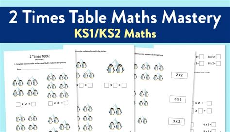 maths mastery worksheet for teaching the 2 times table