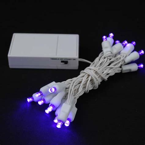 battery operated led lights 20 led battery operated lights purple on white