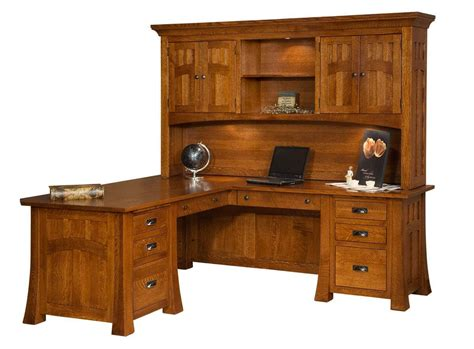 Mission Canyon Executive L-desk With Hutch
