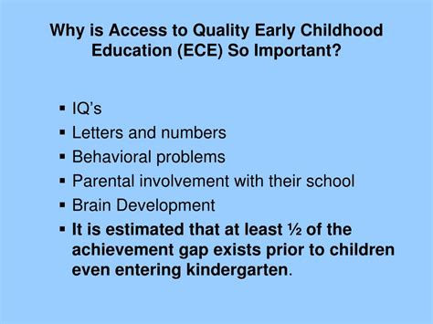 return  investment  quality early childhood
