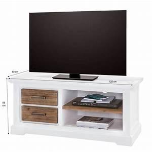 Tv Board 120 Cm : tv lowboard lale in wei braun 120cm breit ~ Frokenaadalensverden.com Haus und Dekorationen
