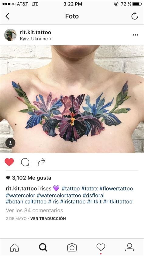 iris tattoo ideas  pinterest iris flower