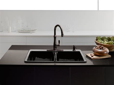 what are kitchen sinks made out of standard plumbing supply product kohler k 5873 4 7 9830