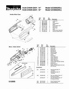 Download Free Pdf For Makita Uc 4000 Chain Saw Other Manual
